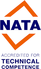 NATA accredited for technical competence
